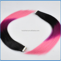 Alibaba export dropship products your own brand hair online shopping ombre three tone colored tape hair