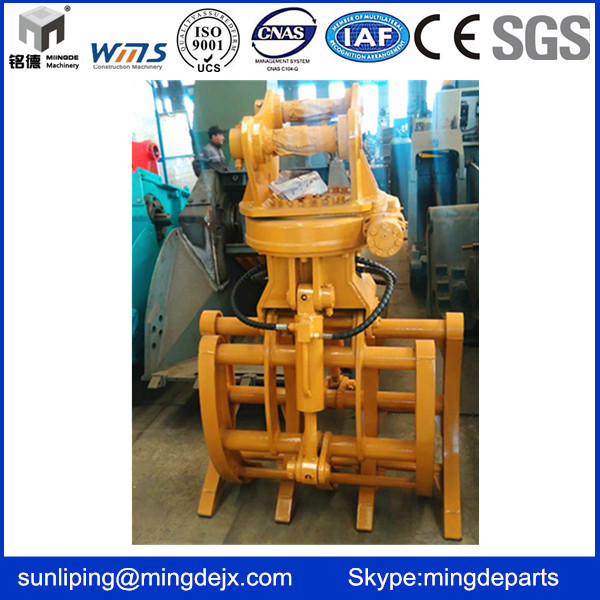 3 to 30 Tons Excavator Hydraulic Rotator Grab Stone Grapple