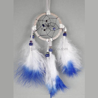 high quality white and blue feather dream catcher supplies