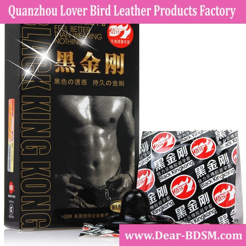 10 pcs/Pack Brand Black King Kong Condom High Quality Sex Products Love Safe Sex Pleasure Latex Condom