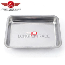 cheap 2016 hot sale serving tray metal serving tray silver color food tray