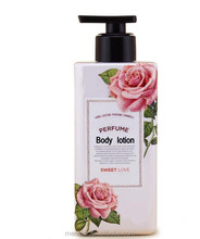Mendior private label Natural fragrance perfume formula body lotion whitening nourishing body lotion
