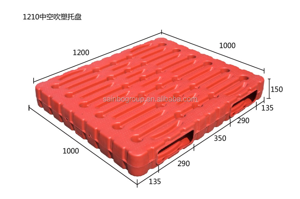 Hot sale double face warehouse factory plastic pallet with iron core 0099
