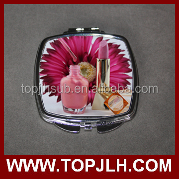 promotion business new ideas private small compact mirror with design print