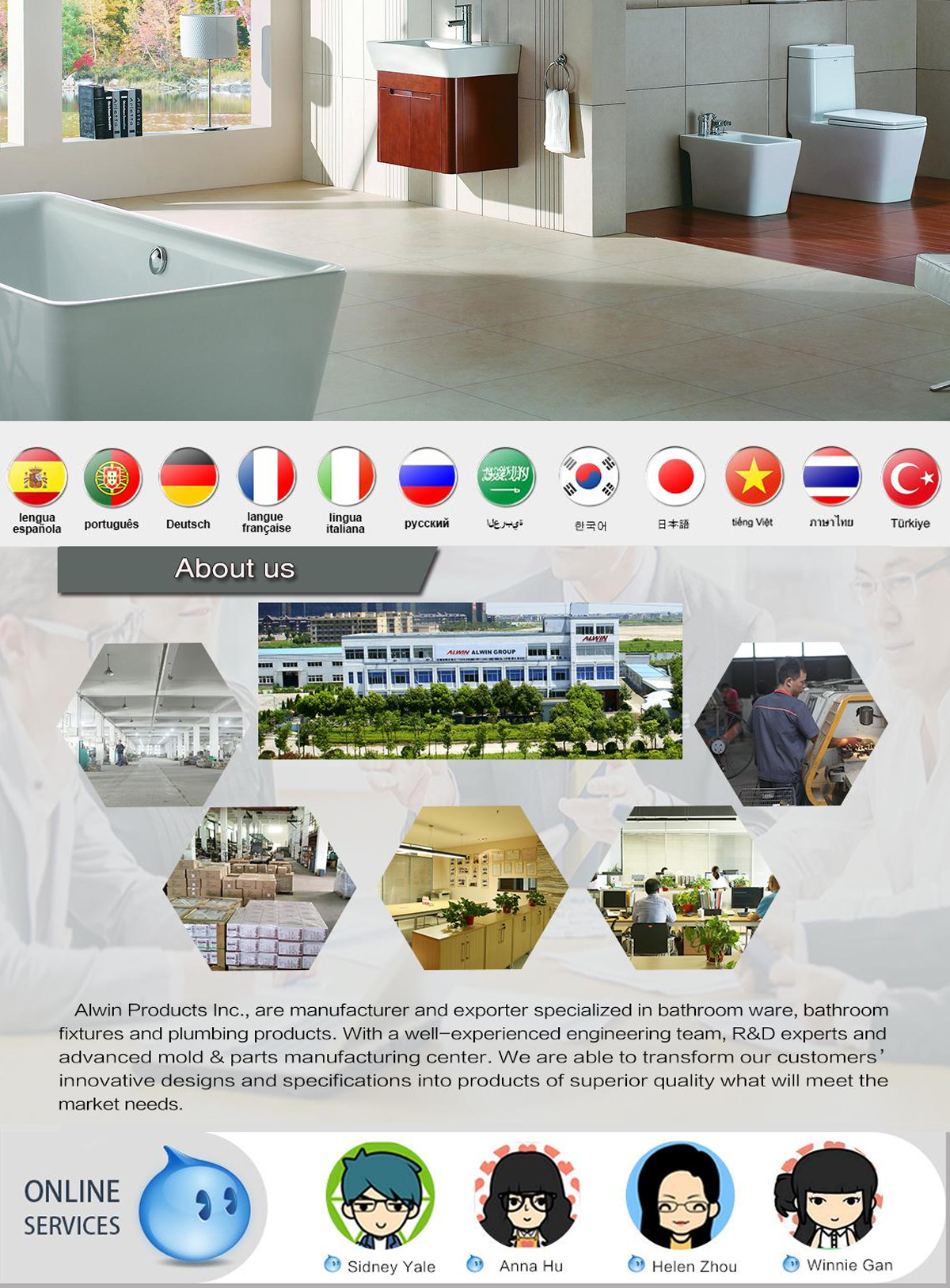 Alwin (Ningbo) Products Inc. - Bathroom accessories, bathroom mat