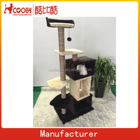 DS0067 Natural sisal soft plush house for cat