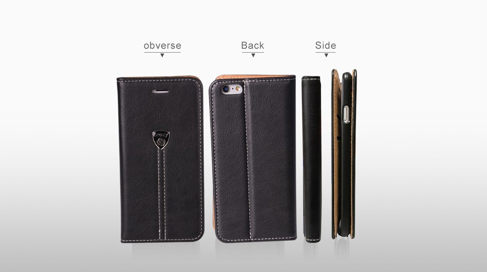 Wholesale Price High quality flip leather case for iphone6 4.7inch book leather case with High quality flip leather case