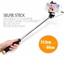 Portable Mini Extendable Wired New tripod monopod selfie stick for mobile phone,camera,for IOS or Android over 4.2.2 system