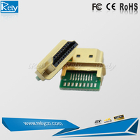 High quality gold plated HDMI Male Connector for Automated production