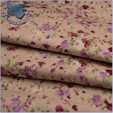 100% cotton poplin printed fabric with rose print pattern fot shirt