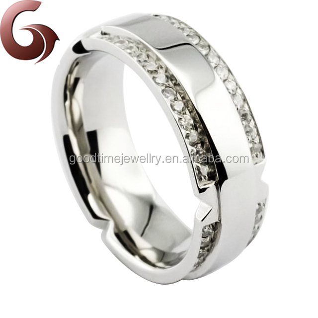 Fashion stainless steel custom initial rings