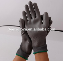 Cheap price hand gloves hand PU palm coating work hand gloves