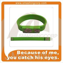 Bulk Price Wrist Band USB Cheap Wristband USB Pen drives / USB flash drive