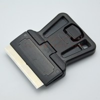 Glass Scraper screen printing squeegee rubber gilette fusion with 1.5 inch changeable blade