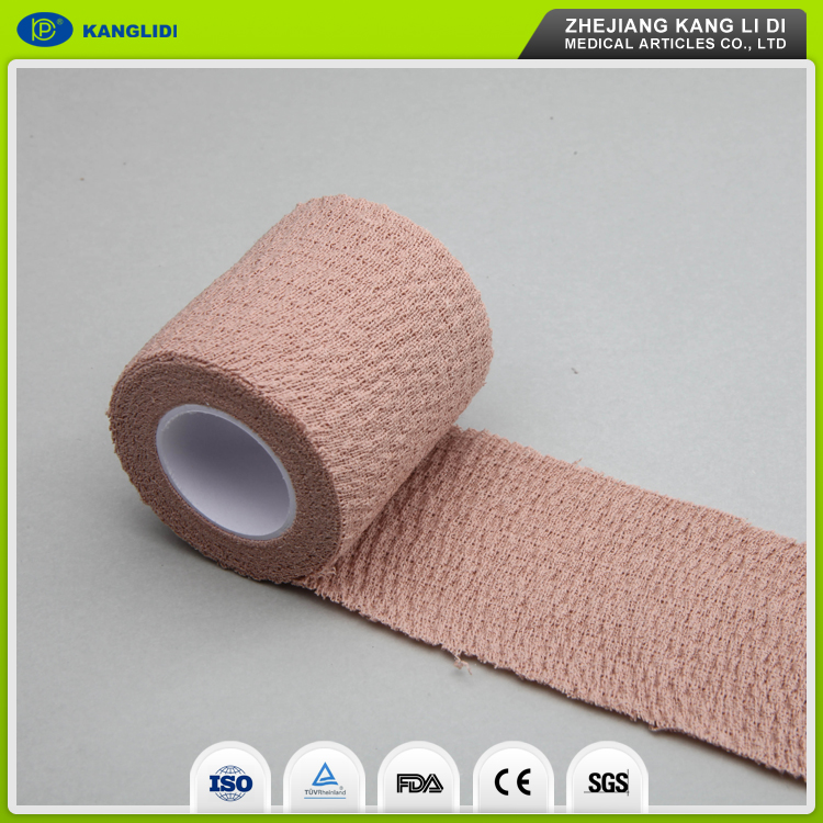 KLIDI Best Quality Waterproof Latex Self Sticky Elastic Bandage/Medical Bandage