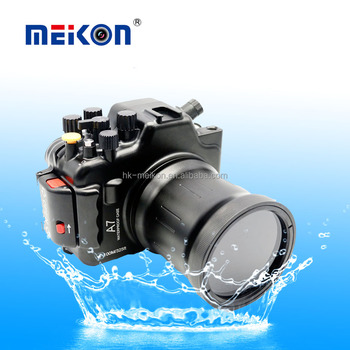 Meikon 100M/325ft underwater waterproof camera Aluminum housing case for Sony A7