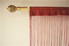 Embellish crystal beaded line string curtain for room divider