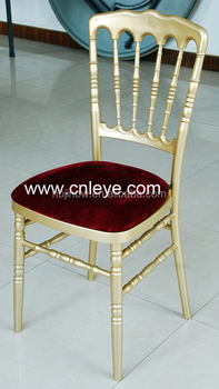 factory direct supply gold napoleon chair plastic resin for wedding
