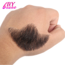 BBearybrana Human Hair Beard Man Mustache Makeup for Film and Television Makeup Real Fancy Human Hair Cospaly Party Acting Tools