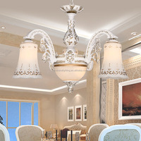 Factory direct sale 6 head furniture bohemian ceiling glass hemp ropes for dining room chandelier