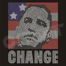 Barack Obama Portrait Hot-fix Rhinestud Motif