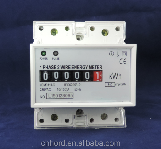 High quality and good price DIN Rail Single Phase Electronic Energy <strong>Meter</strong>