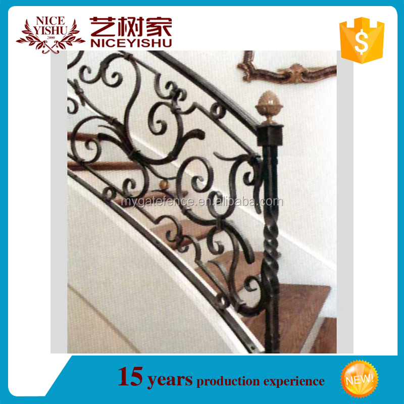Good Cheap Price Interior Stairs Railing Designs,decorative Wrought Iron Indoor Stair  Railings,prefab Metal Stair Railing