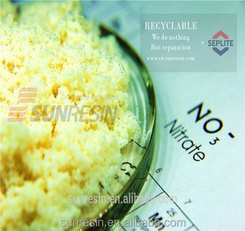 ion exchange resin for nitrate removal from drinking water