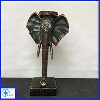 Elephant head sculpture art for wall decoration