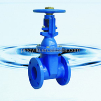 "Flange ends cast iron 2"" inch resilient seated gate valve diagram"