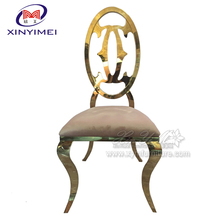 Comfortable high back wedding and event stainless steel chair