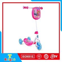 Plastic and Steel 3 wheel outdoor sport kids scooter