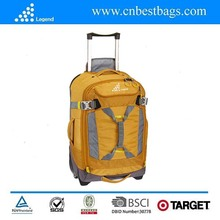 2014 new design ans fashionable l Wheeled luggage pack color yellow