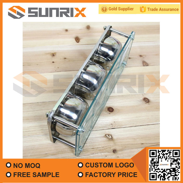 Wholesale High Qulity Household Multi 3 Pieces Stainless Steel Spice Box