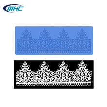 Regal crown lace silicone mat ,sugar icing lace mat