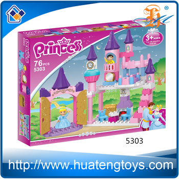 2016 New DIY princess castle building block toy for baby girl