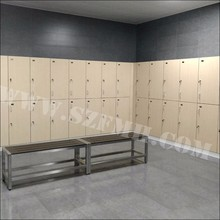 single / double door clothes changing room locker with bench