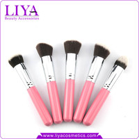 Liya makeup brush set 10 pcs with custom design multi color optional