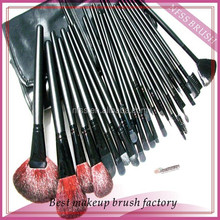 China face pack brush 32pcs cheap makeup brush set with black cosmetic bag