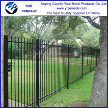 Hot dipped galvanized decorative cheap wrought iron fence/cheap house fence and gates