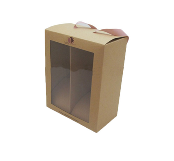 Manufacturers custom transparent window convenient portable packaging paper boxes baby shoebox