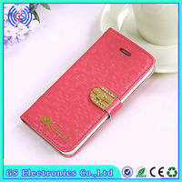 Newest for iphone 5c luxury leather case with diamond,wholesale mobile phone accessories