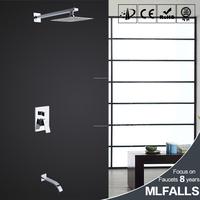 Mlfalls bath shower set/chrome finish rainfall shower head