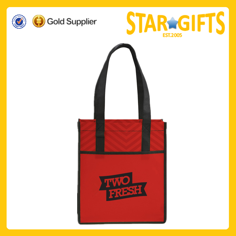 Gift With Purchase Promotion Cheap Silk Screen One Color Logo Printing Reusable Shopping Tote