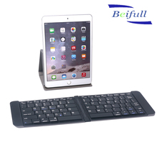 ABS Folding Portable wireless bluetooth keyboard for ipad mobile phone