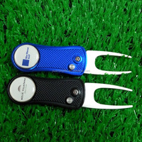 2016 Golf club magnetic pitchforks with folding tools / automatic aluminum forks
