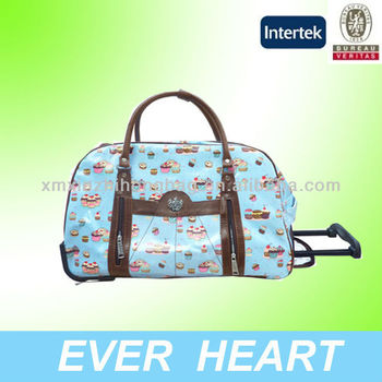 Korea Style Wheeled Weekend Travel Bag for students,shampoo bag