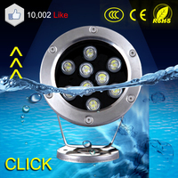 New design pool light 9W AC12/24V waterproof LED underwater light with high quality