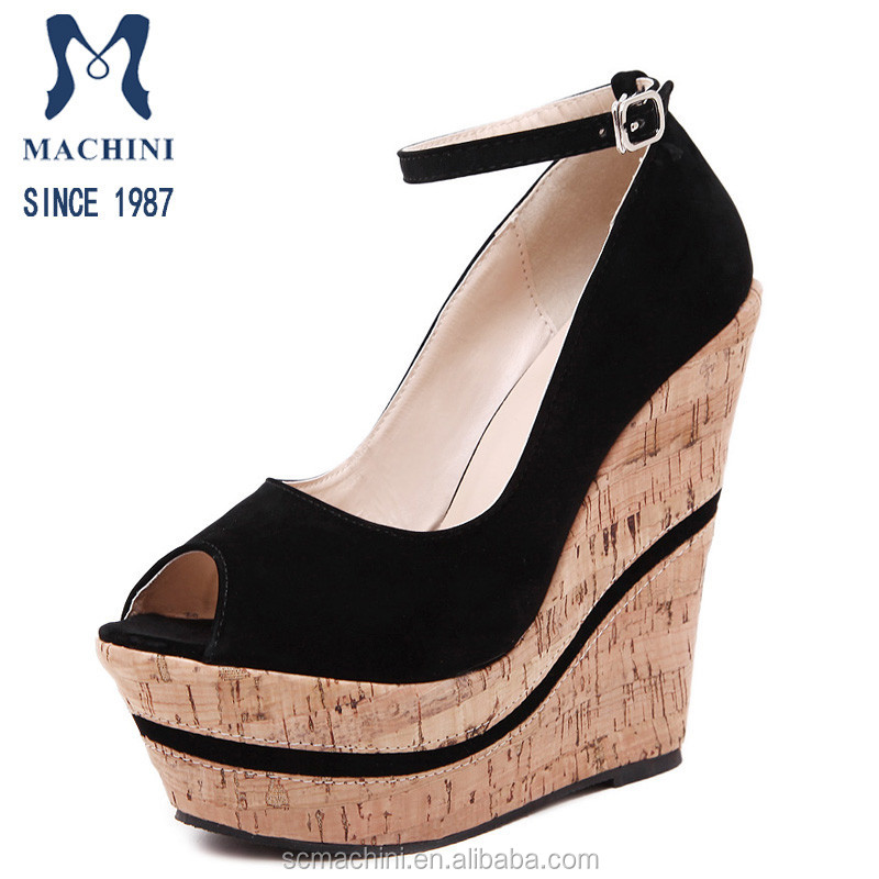 2016 Fashion women wedges shoes and sandals, chengdu sandals shoes in stock