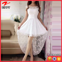 Women Fashion Special Soft Lace Sexy Dress 2017 Summer Lady Elegant Pure Color Charming Dovetail Lace Dress